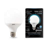 Лампа Gauss LED G95 E27 16W 4100K 105102216