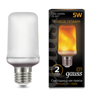 Лампа Gauss Led T65 Corn Flame 5W E27 1500K 157402105