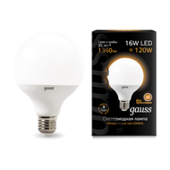 Лампа Gauss LED G95 E27 16W 3000K 105102116