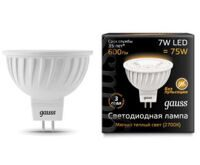 Лампа Gauss LED MR16 GU5.3 7W 600lm 3000K 101505107