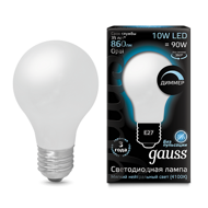 Лампа светодиодная Gauss LED Filament A60 OPAL dimmable E27 10W 4100К 102202210-D