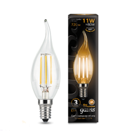 Лампа светодиодная Gauss LED Filament Candle tailed E14 11W 2700K 104801111
