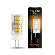 Лампа Gauss LED G4 AC185-265V 4W 400lm 2700K керамика 107307104