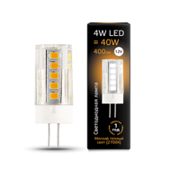 Лампа Gauss LED G4 12V 4W 400lm 2700K керамика 207307104