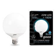Лампа Gauss LED G125 E27 22W 4100K 105102222