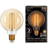 Лампа Gauss LED Filament G95 E27 8W Golden 105802008