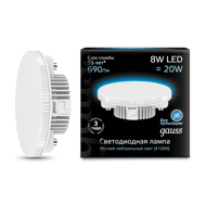 Лампа Gauss LED GX53 8W 4100K 108008208