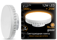 Лампа Gauss LED GX70 12W 2700K 131016112