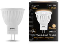Лампа Gauss LED MR11 GU4 3W 290lm 2700K