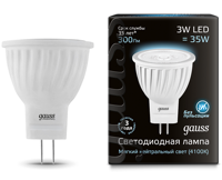 Лампа Gauss LED MR11 GU4 3W 300lm 4100K