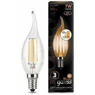 Лампа Gauss LED Filament Candle tailed E14 7W 2700K step dimmable 104801107-S